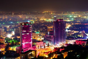 Киев ночью