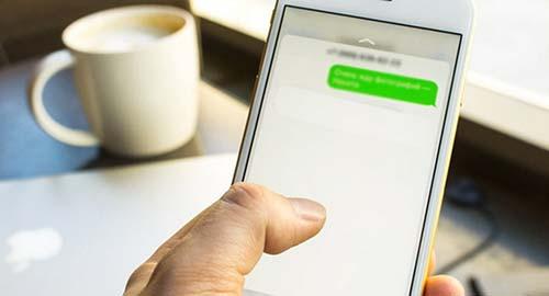 сервис требует ввести SMS