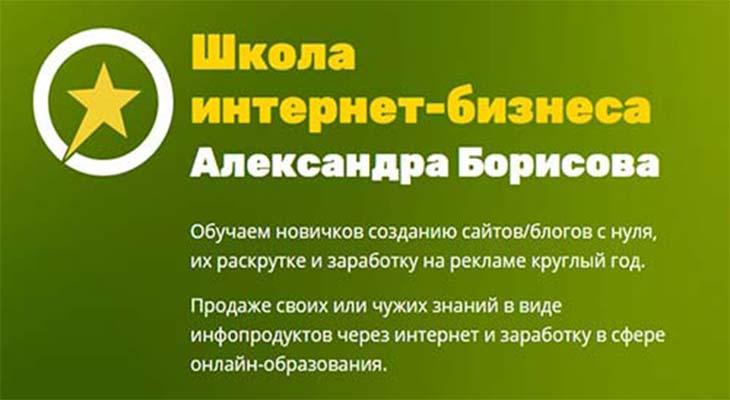 Школа интернет-бизнеса Александра Борисова: мой личный обзор