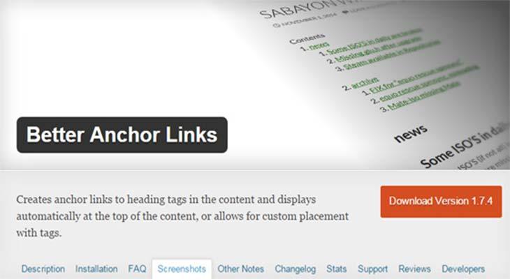 Better anchor links